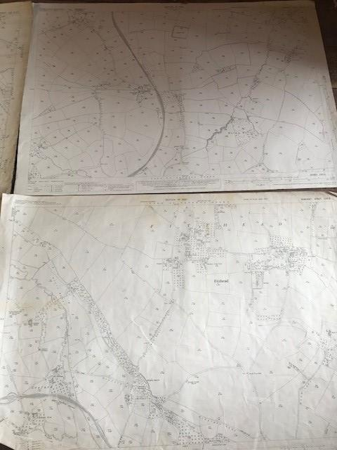 THIRTY 1:2500 ORDNANCE SURVEY MAPS relating to Taunton featuring Stapelgrove, Thornfalcon, Orchard - Image 14 of 15