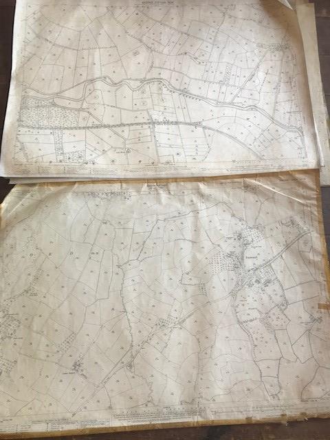 THIRTY 1:2500 ORDNANCE SURVEY MAPS featuring Upcott, Hillfarrance, Nynehead, Norton Fitzwarren, - Image 12 of 16