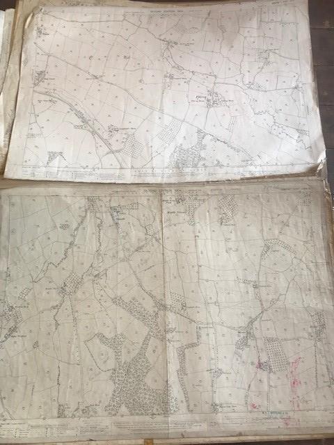 THIRTY 1:2500 ORDNANCE SURVEY MAPS featuring Upcott, Hillfarrance, Nynehead, Norton Fitzwarren, - Image 4 of 16