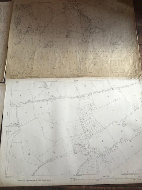 THIRTY 1:2500 ORDNANCE SURVEY MAPS relating to Taunton featuring Stapelgrove, Thornfalcon, Orchard - Image 6 of 15