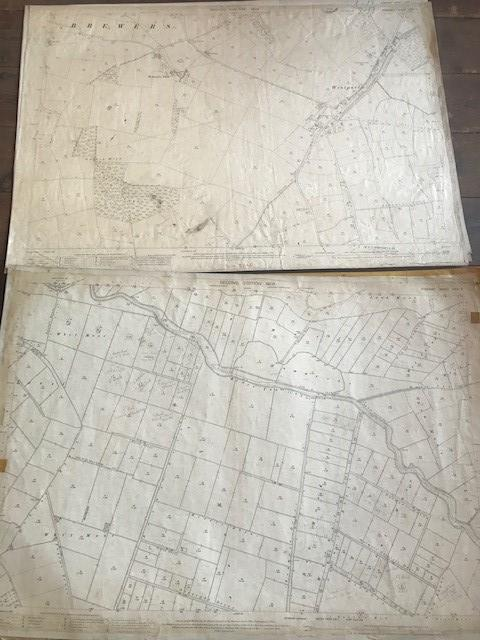 THIRTY 1:2500 ORDNANCE SURVEY MAPS featuring Upcott, Hillfarrance, Nynehead, Norton Fitzwarren, - Image 15 of 16