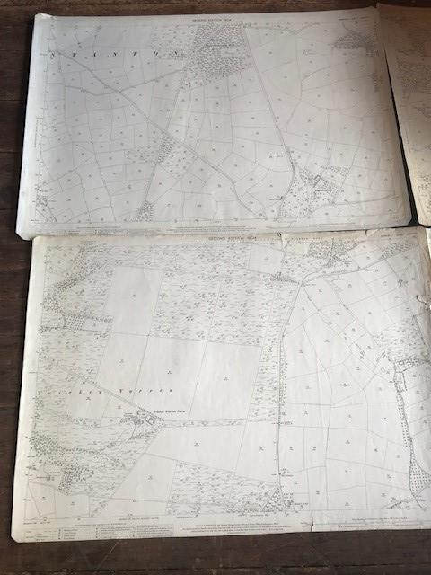 THIRTY 1:2500 ORDNANCE SURVEY MAPS relating to Taunton featuring Stapelgrove, Thornfalcon, Orchard - Image 7 of 15