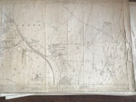 THIRTY 1:2500 ORDNANCE SURVEY MAPS featuring Combe Florey, Ash Priors, Enmore, West Bagborough,
