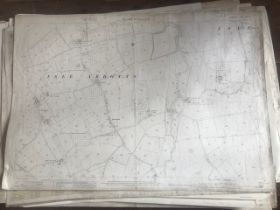 THIRTY 1:2500 ORDNANCE SURVEY MAPS featuring Isle Abbot, Mackrell, Cary Fitzpaine, Marson Magna,
