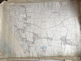 THIRTY 1:2500 ORDNANCE SURVEY MAPS relating to Rushiton, Durston , Woolavington, Wantage,