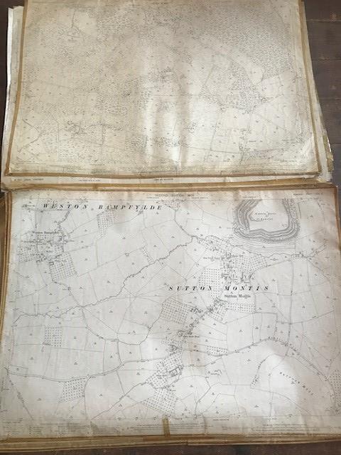 THIRTY 1:2500 ORDNANCE SURVEY MAPS featuring Upcott, Hillfarrance, Nynehead, Norton Fitzwarren, - Image 7 of 16