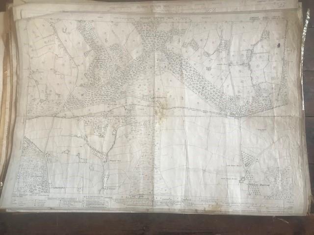 THIRTY 1:2500 ORDNANCE SURVEY MAPS featuring Upcott, Hillfarrance, Nynehead, Norton Fitzwarren,