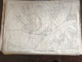 THIRTY 1:2500 ORDNANCE SURVEY MAPS relating to Tetburn Mary, Little Hacksworthy, Shute, Ottery St