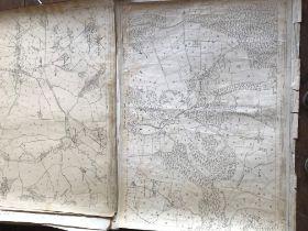 THIRTY 1:2500 ORDNANCE SURVEY MAPS featuring Wellington, Runnington, Blagdon, Angersleigh,
