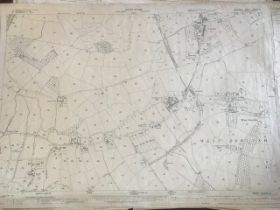 THIRTY 1:2500 ORDNANCE SURVEY MAPS featuring Westgate Street and Her Majesty's Military Prison