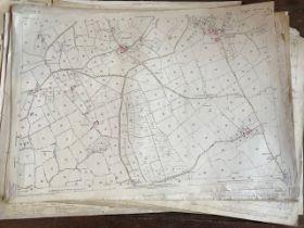 THIRTY 1:2500 ORDNANCE SURVEY MAPS featuring Dulford, Brockhill, Tiverton, Halberton, Pucklington,