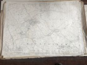 THIRTY 1:2500 ORDNANCE SURVEY MAPS featuring Bicknoller, Adscombe, West Quantoxhead, Weacombe,