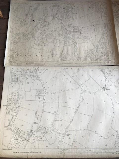 THIRTY 1:2500 ORDNANCE SURVEY MAPS relating to Taunton featuring Stapelgrove, Thornfalcon, Orchard - Image 5 of 15