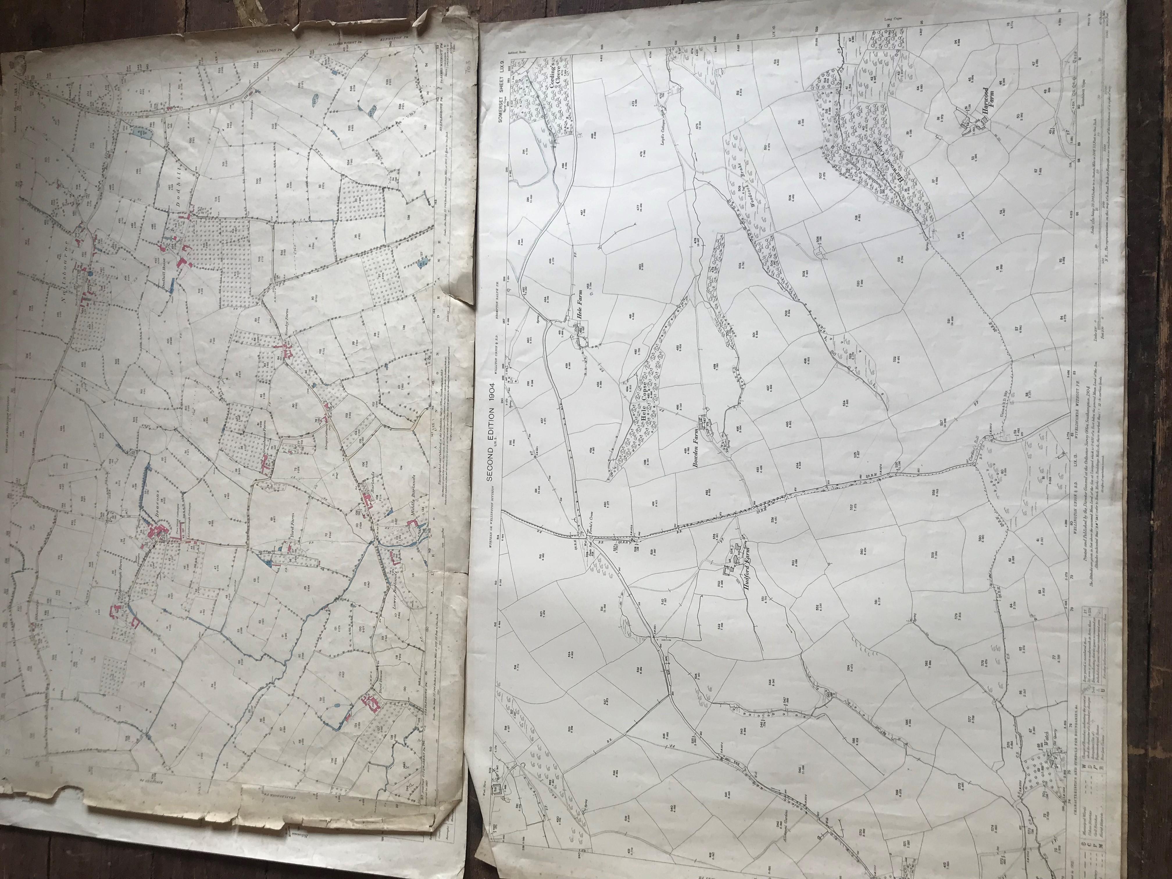 THIRTY 1:2500 ORDNANCE SURVEY MAPS featuring Chelston, Ham, Sampford Brett, Wellington, - Image 15 of 16