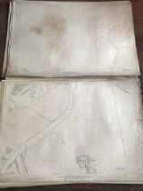 THIRTY 1:2500 ORDNANCE SURVEY MAPS relating mainly to Taunton featuring Coal Orchard and Somerset