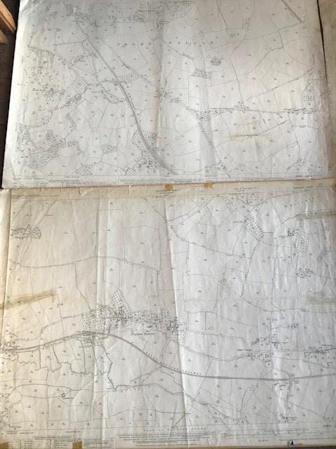 THIRTY 1:2500 ORDNANCE SURVEY MAPS relating to Taunton featuring Stapelgrove, Thornfalcon, Orchard - Image 2 of 15