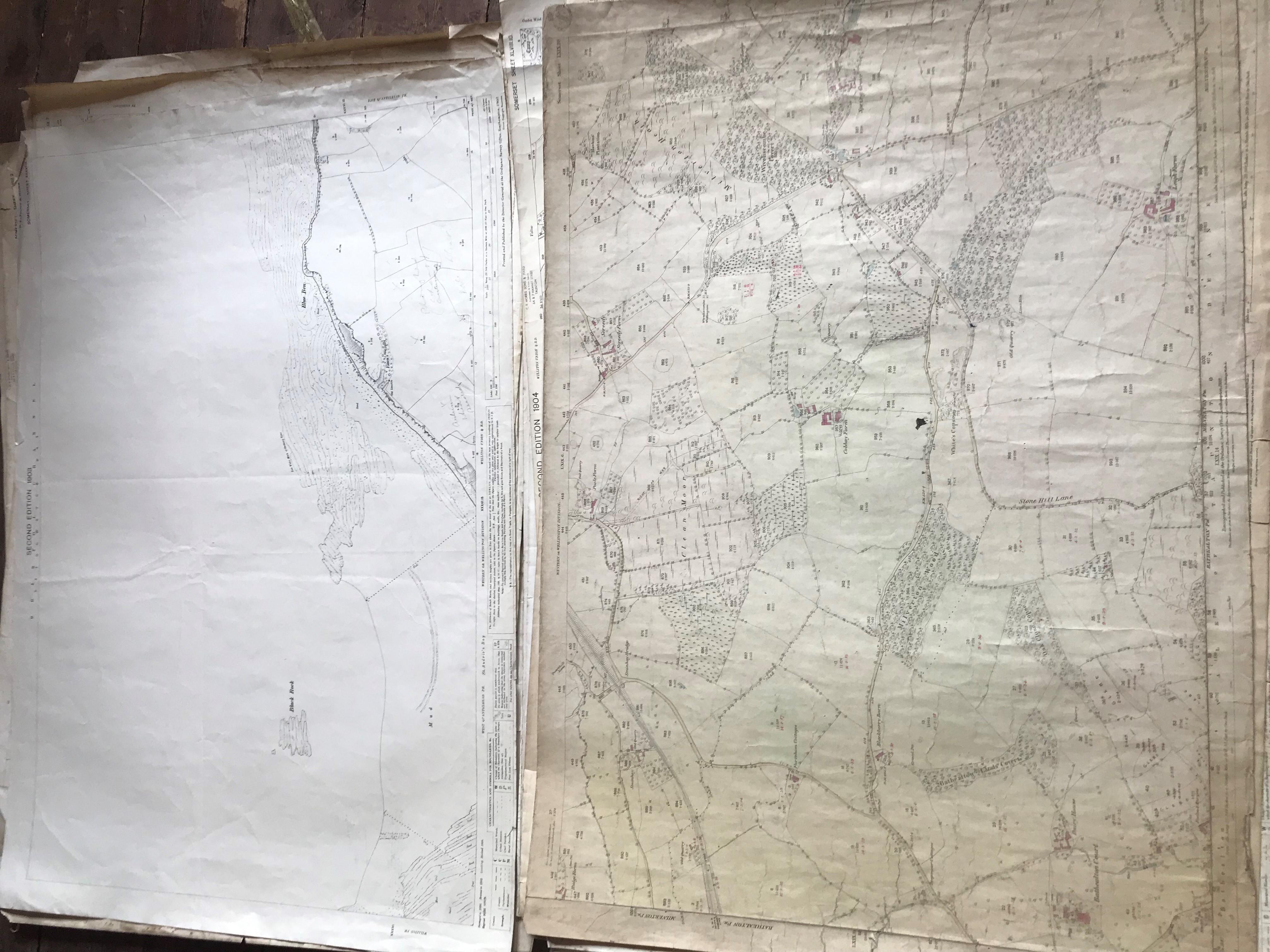 THIRTY 1:2500 ORDNANCE SURVEY MAPS featuring Chelston, Ham, Sampford Brett, Wellington, - Image 2 of 16