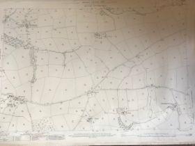 THIRTY 1:2500 ORDNANCE SURVEY MAPS featuring West Buckland, Uppacott, Rushcott, Swimbridge,