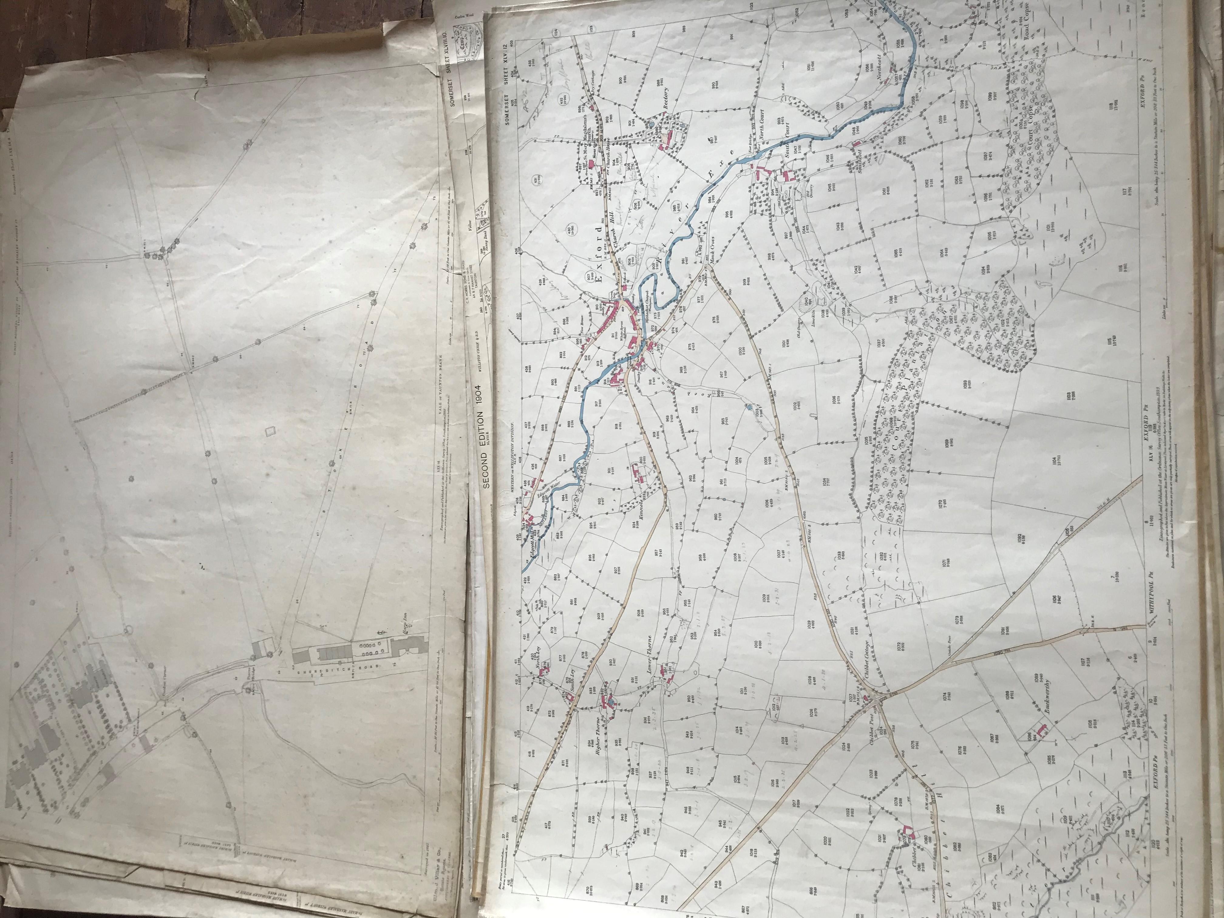 THIRTY 1:2500 ORDNANCE SURVEY MAPS featuring Chelston, Ham, Sampford Brett, Wellington, - Image 6 of 16