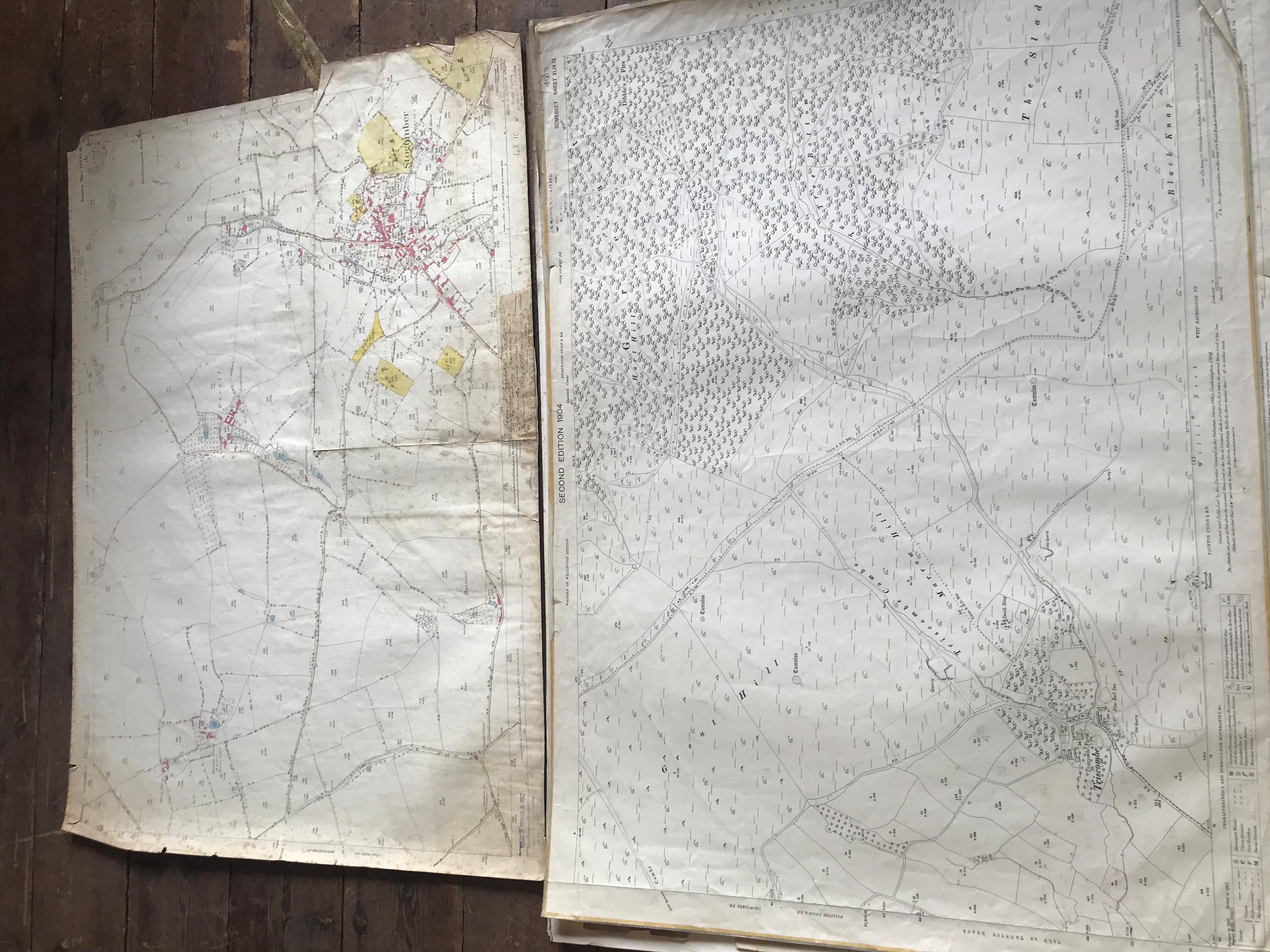 THIRTY 1:2500 ORDNANCE SURVEY MAPS featuring Chelston, Ham, Sampford Brett, Wellington, - Image 13 of 16