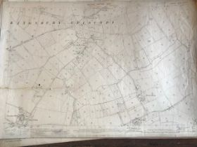 THIRTY 1:2500 ORDNANCE SURVEY MAPS relating to Kingsbury Episcopi, Broadmoor, Middle Blackpool,