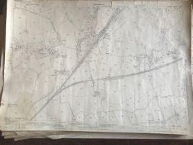 THIRTY 1:2500 ORDNANCE SURVEY MAPS relating to Creech St Michael, Ham, Langford Budville,