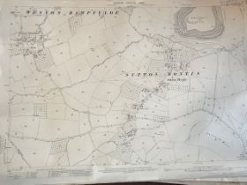 THIRTY 1:2500 ORDNANCE SURVEY MAPS featuring Sutton Montis, Weston Rampflyde, Chard, East