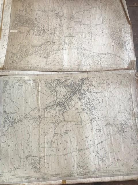 THIRTY 1:2500 ORDNANCE SURVEY MAPS featuring Upcott, Hillfarrance, Nynehead, Norton Fitzwarren, - Image 6 of 16