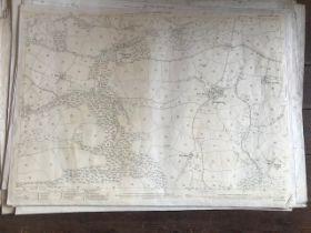 THIRTY 1:2500 ORDNANCE SURVEY MAPS relating to Templeton, Cullompton, Calverleigh, Tiverton,