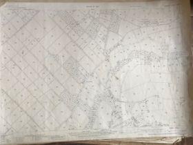 THIRTY 1:2500 ORDNANCE SURVEY MAPS, relating to Bridgwater, Chedzoy, Burlinch, Othery, Washford,