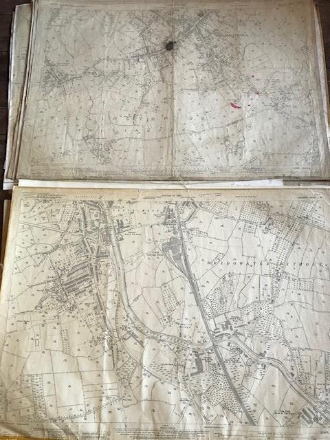 THIRTY 1:2500 ORDNANCE SURVEY MAPS featuring West Buckland, West Monkton, Dommett, Turlbear, Stoke - Image 8 of 16