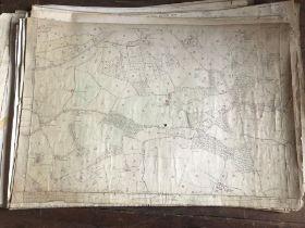 THIRTY 1:2500 ORDNANCE SURVEY MAPS featuring Chelston, Ham, Sampford Brett, Wellington,