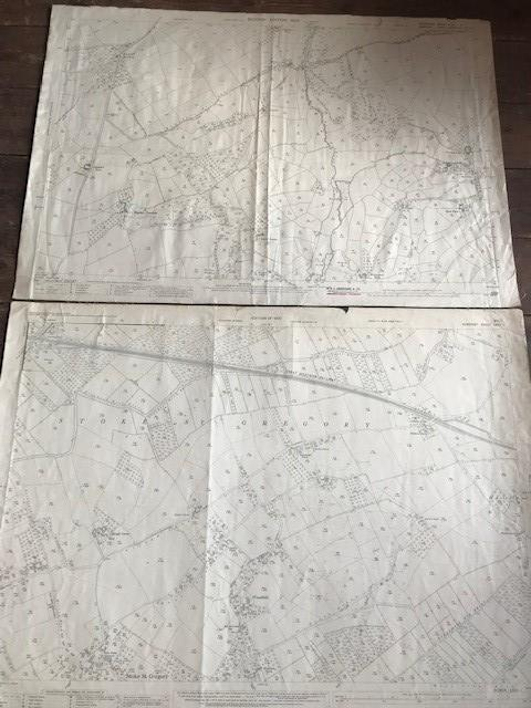 THIRTY 1:2500 ORDNANCE SURVEY MAPS relating to Taunton featuring Stapelgrove, Thornfalcon, Orchard - Image 15 of 15
