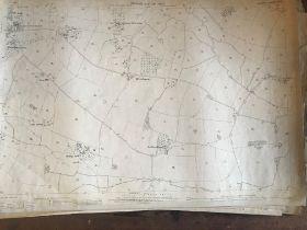 THIRTY 1:2500 ORDNANCE SURVEY MAPS featuring East Lydeard, Milverton, Dodhill, Taunton, Weekmoor,