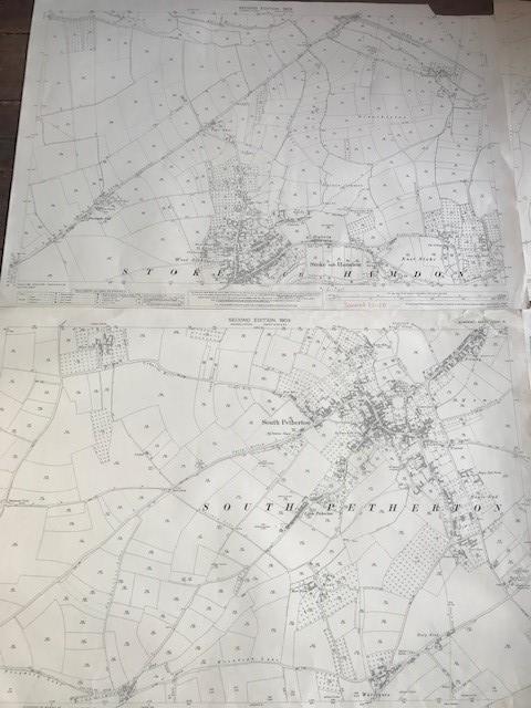 THIRTY 1:2500 ORDNANCE SURVEY MAPS featuring South Petherton, Stoke sub Hambdon, Stocklinch, White - Image 15 of 16
