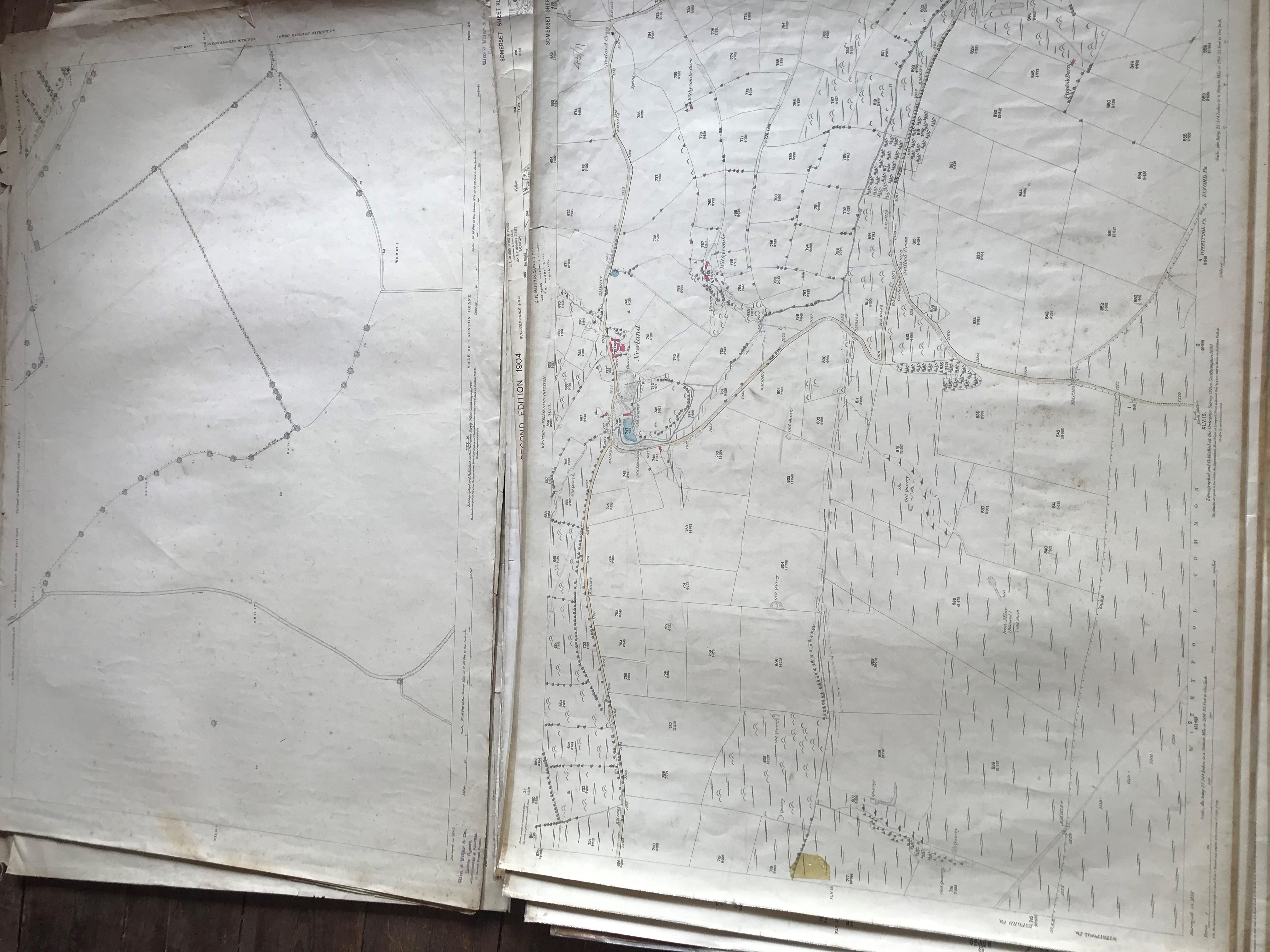 THIRTY 1:2500 ORDNANCE SURVEY MAPS featuring Chelston, Ham, Sampford Brett, Wellington, - Image 5 of 16