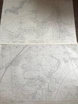 THIRTY 1:2500 ORDNANCE SURVEY MAPS featuring South Petherton, Stoke sub Hambdon, Stocklinch, White