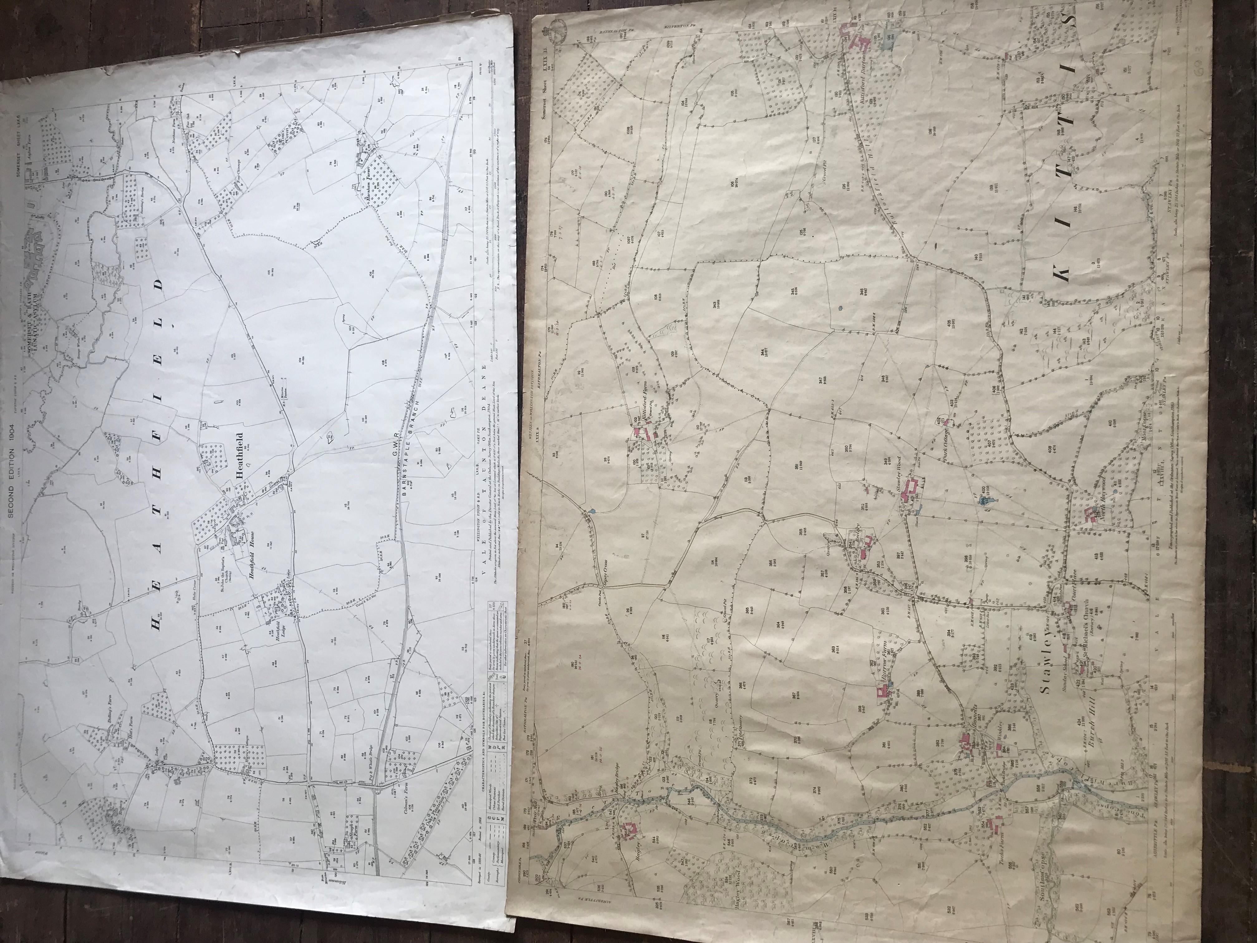 THIRTY 1:2500 ORDNANCE SURVEY MAPS featuring Chelston, Ham, Sampford Brett, Wellington, - Image 16 of 16