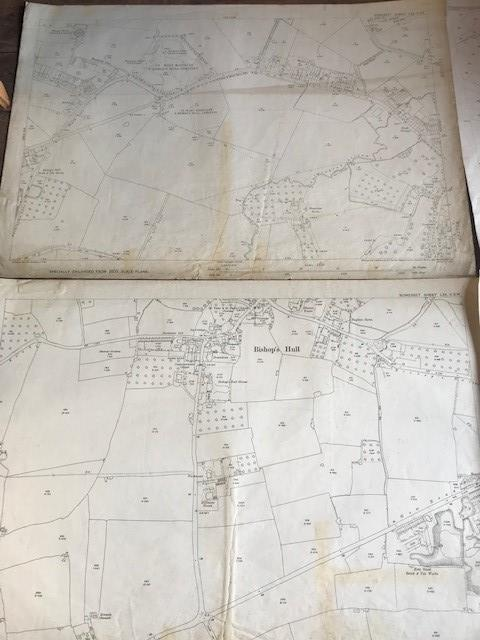THIRTY 1:2500 ORDNANCE SURVEY MAPS relating to Taunton featuring Stapelgrove, Thornfalcon, Orchard - Image 13 of 15