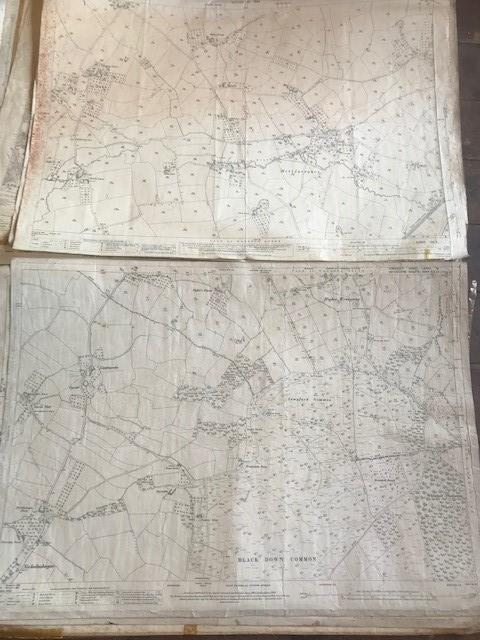 THIRTY 1:2500 ORDNANCE SURVEY MAPS featuring Upcott, Hillfarrance, Nynehead, Norton Fitzwarren, - Image 3 of 16