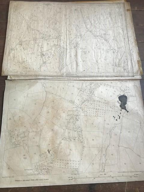 THIRTY 1:2500 ORDNANCE SURVEY MAPS featuring Upcott, Hillfarrance, Nynehead, Norton Fitzwarren, - Image 14 of 16