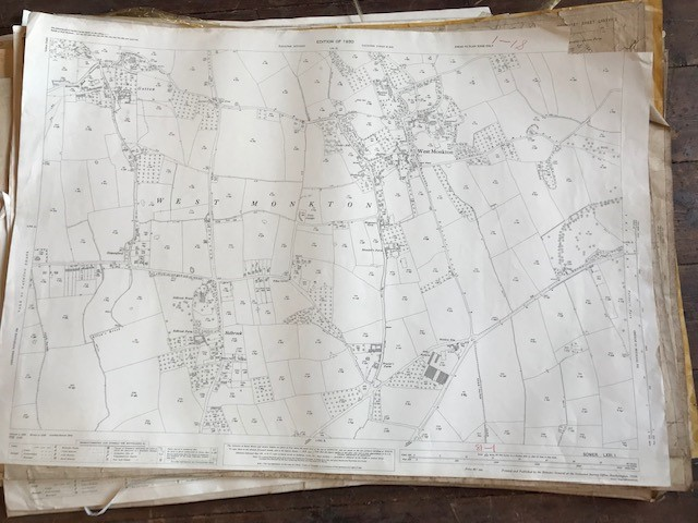 THIRTY 1:2500 ORDNANCE SURVEY MAPS featuring West Buckland, West Monkton, Dommett, Turlbear, Stoke - Image 16 of 16