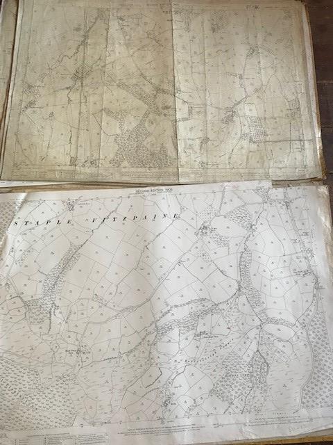 THIRTY 1:2500 ORDNANCE SURVEY MAPS featuring West Buckland, West Monkton, Dommett, Turlbear, Stoke - Image 6 of 16
