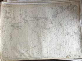 THIRTY 1:2500 ORDNANCE SURVEY MAPS, relating to Wembon, Durleigh, Creech St Michael, Durston,
