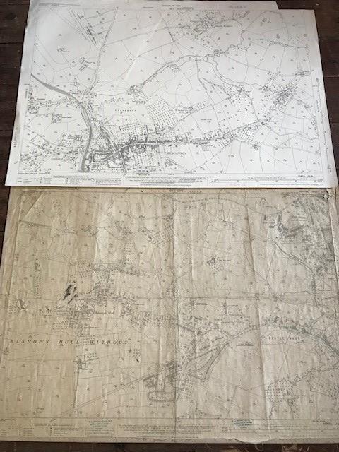 THIRTY 1:2500 ORDNANCE SURVEY MAPS featuring West Buckland, West Monkton, Dommett, Turlbear, Stoke