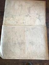 THIRTY 1:2500 ORDNANCE SURVEY MAPS featuring Sherford, George Nympton, Bishop Nympton, Queen
