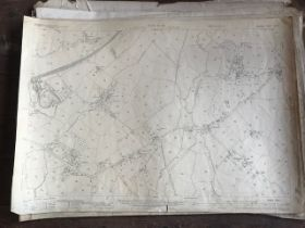THIRTY 1:2500 ORDNANCE SURVEY MAPS relating to Taunton featuring Firepool, the north part of Taunton
