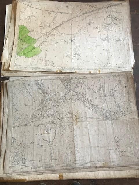 THIRTY 1:2500 ORDNANCE SURVEY MAPS featuring Upcott, Hillfarrance, Nynehead, Norton Fitzwarren, - Image 2 of 16