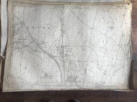 THIRTY 1:2500 ORDNANCE SURVEY MAPS featuring Tolland, Combe Florey, Heathfield, Taunton town centre,