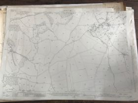 THIRTY 1:2500 ORDNANCE SURVEY MAPS relating featuring Chillington, Fivehead, Swell, Combe St